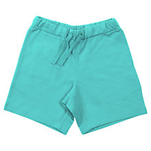 Buy Polarn O. Pyret Jersey Shorts, Turquoise Online at johnlewis.com