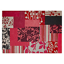 Buy Clarissa Hulse Patch Floral Rug, Red Online at johnlewis.com