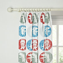 Buy little home at John Lewis Dino Was Here Glow In The Dark Pencil Pleat Blackout Lined Curtains Online at johnlewis.com