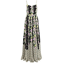 Buy French Connection Desert Tropicana Maxi Dress, Black Multi Online at johnlewis.com