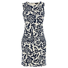 Buy Warehouse Jungle Print Dress, Blue Pattern Online at johnlewis.com