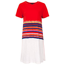Buy French Connection Maddison Stripe Dress, Havana Red Multi Online at johnlewis.com