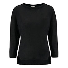 Buy Whistles Lauren Linen Top, Black Online at johnlewis.com