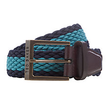 Buy Ted Baker Striped Elastic Belt, Blue Online at johnlewis.com