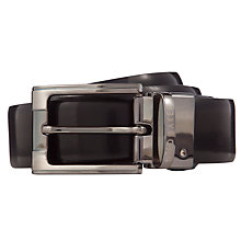 Buy Ted Baker Crafti Smart Leather Reversible Belt, Black Online at johnlewis.com