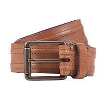 Buy Ted Baker Sumtime Piped Stitched Belt, Tan Online at johnlewis.com