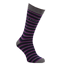 Buy Ted Baker Boonah Striped Sock and Boxer Set, Grey Online at johnlewis.com