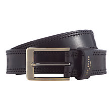 Buy Ted Baker Cricket Stitch Belt, Black Online at johnlewis.com