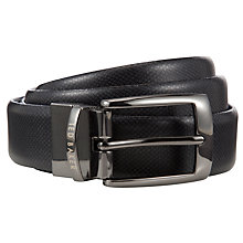 Buy Ted Baker Revsing Reversible Leather Belt, Grey/Blue Online at johnlewis.com