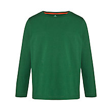 Buy John Lewis Boy Crew Neck Long Sleeve Top, Evergreen Online at johnlewis.com