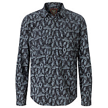 Buy Barbour Knot Cotton Shirt, Navy Online at johnlewis.com