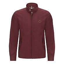 Buy Pretty Green Kingsway Harrington Jacket, Burgundy Online at johnlewis.com