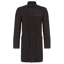 Buy Pretty Green Deansgate Cotton Parka, Black Online at johnlewis.com
