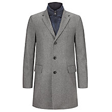 Buy Tommy Hilfiger Twill Chase Coat, Silver Fog Online at johnlewis.com