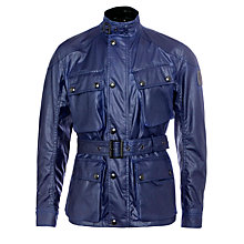 Buy Belstaff Circuitmaster Waxed Cotton Biker Jacket, Bright Indigo Online at johnlewis.com