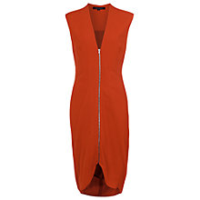 Buy French Connection Ziggy Zip Dress, Havana Red Online at johnlewis.com