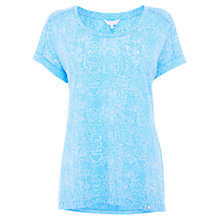 Buy Wishbone Josie Animal Burn-Out T-Shirt, Light Blue Online at johnlewis.com