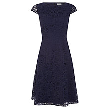 Buy Kaliko Summer Lace Skater Dress, Navy Online at johnlewis.com