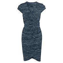 Buy French Connection Summer Space Wrap Dress, Space Dye/Black Online at johnlewis.com
