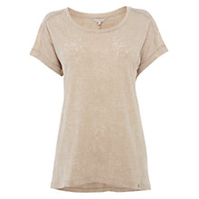 Buy Wishbone Josie Burnout T-shirt, Light Neutral Online at johnlewis.com