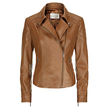Buy Kaliko Leather Jacket, Light Brown Online at johnlewis.com
