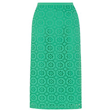 Buy Wishbone Lauren Broderie Skirt, Mid Green Online at johnlewis.com