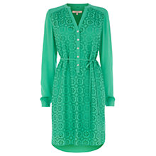 Buy Wishbone Orly Broderie Tunic Dress, Mid Green Online at johnlewis.com