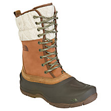 Buy The North Face Women's Shellista Lace Leather Snow Boots, Brown Online at johnlewis.com