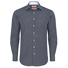 Buy Thomas Pink Vintage Mini Diamond Archive Print Shirt, Navy/White Online at johnlewis.com