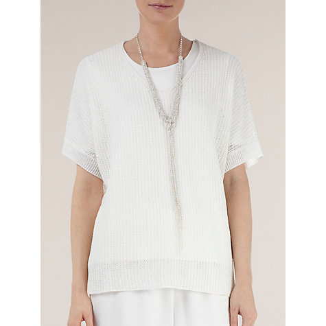Buy Windsmoor Chunky Jumper, Ivory Online at johnlewis.com