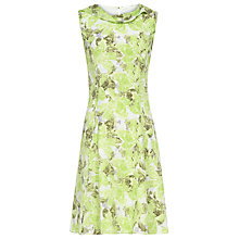 Buy Reiss Fluted Fold Neck Dress, Renaissance Green Online at johnlewis.com