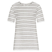Buy Reiss Orlando Striped Top, Silver Online at johnlewis.com