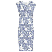 Buy Reiss Bardot Print Jersey Dress, Navy/White Online at johnlewis.com