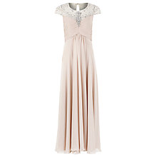 Buy Jacques Vert Capped Sleeve Maxi, Neutral Online at johnlewis.com