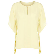 Buy Windsmoor Limoncello Drape Top, Lemon Online at johnlewis.com