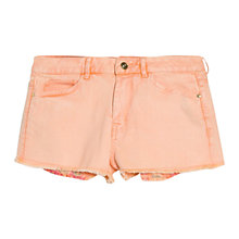Buy Mango Denim Shorts, Bright Orange Online at johnlewis.com