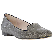 Buy Dune Limbo Suede Slipper Shoes, Gold Online at johnlewis.com