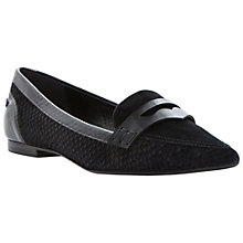 Buy Dune Lyndon Suede Pump Shoes, Black Online at johnlewis.com