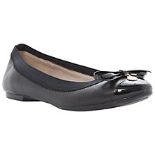 Buy Dune Maeby Metal Coin Trim Leather Ballerina Pumps, Black Online at johnlewis.com
