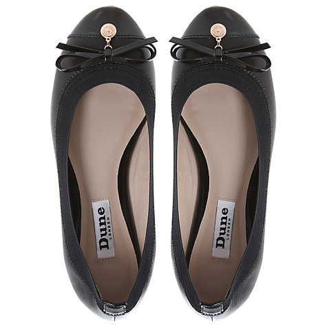 Buy Dune Maeby Leather Ballerina Pumps Online at johnlewis.com