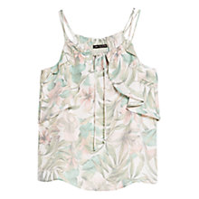 Buy Mango Tropical Print Top, Light Pastel Pink Online at johnlewis.com