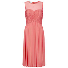 Buy Hobbs Invitation Rachel Dress, Orange Pink Online at johnlewis.com
