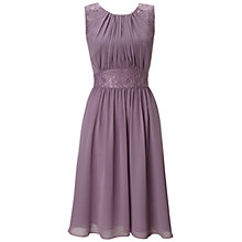 Buy Ariella Alia Chiffon Short Dress, Lavender Online at johnlewis.com