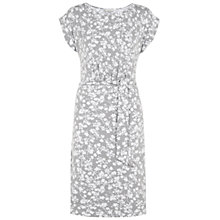 Buy Hobbs London Iris Dress, Grey White Online at johnlewis.com