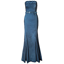 Buy Ariella Denise Stretch Taffeta Long Strapless Dress, Blue Online at johnlewis.com