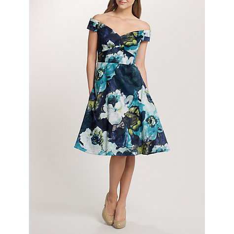 Buy Ariella Molly Off The Shoulder Floral Dress, Blue Online at johnlewis.com