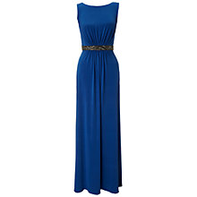 Buy Ariella Orla Beaded Waist Trim Maxi Dress, Blue Online at johnlewis.com