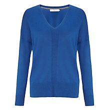 Buy John Lewis V-Neck Vertical Rib Jumper Online at johnlewis.com