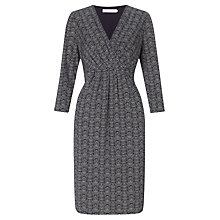 Buy John Lewis Capsule Collection Zig Zag Print Jersey Dress, Blue/White Online at johnlewis.com