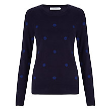 Buy John Lewis Spot Intarsia Crew Neck Jumper Online at johnlewis.com